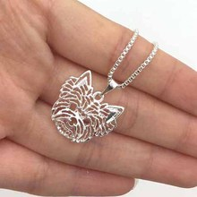 1pcs Yorkshire Terrier Necklace 3D Cute Out Puppy Dog Lover Pendant Memoria Christmas Gift Fashion For Women Girls Friend