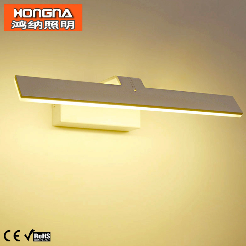 Brief Style 38CM 10W LED Wall Light Waterproof Anti-fog Wall Lamp Mirror Cabinet Bathroom Wall Light AC110V/220V Free Shipping(China (Mainland))