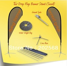 10x S size Single Side Teardrop Banner Stand W/Stainless steel cross feet+Water bag