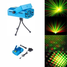 Blue Mini LED Projector Red and Green Laser Stage Light Lighting For Disco Party DJ Bar Club With EU US UK AU Plug(China)