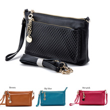Best selling New Arrival Fashion Genuine leather Messenger Shoulder Bags candy colors day Clutch Model:FGS69