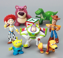 8pcs/lot Toys Story Woody Buzz Lightyear Classic Movie Toys Action & Toy Figures Collection Model Gift