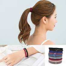 10pcs/lot 2017 New Elastics Hair Holders Hair Bands Gum Fashion Women Rubber Bands Girl's Headwear Tie Hair Accessories OL Style(China)