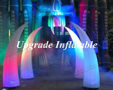 2High Cheap Beautiful Inflatable  Wedding  Stage Decoration Led Lighting Inflatable Cone