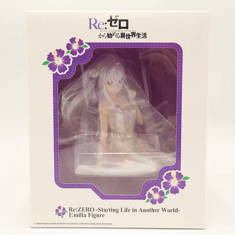 ReZERO Starting Life In Another World Rem Ram Emilia Pajamas Ver. PVC Action Figures Anime Re Zero Collectible Model Toy (8)