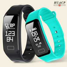 HUACP R1 Smart Wristband Heart Rate Band Blood Pressure Bracelet Blood Oxygen Pedometer with iOS Android APP for Sport Fitness(China)