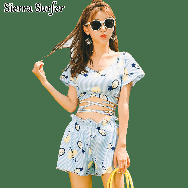 Swimming Suit Women Biquine Womens  May Beach Bikini Top Xxl New Swimsuit Sexy Culottes 8053 Three Piece Maio Feminino Praia<br>