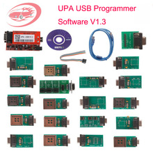 New Version V1.3 UPA USB Programmer Support  Nec Function UPA-USB ECU Chip Tunning Tool With Full Adaptors Free Shipping
