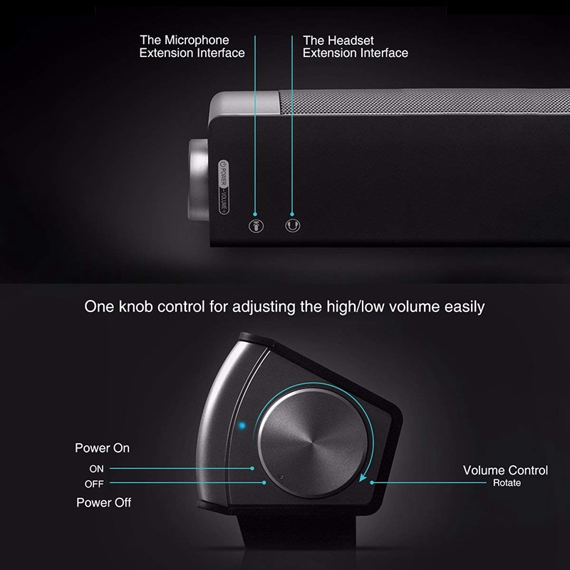 VTIN Wireless Bluetooth Speaker 4.2 SoundBar Remote Control TF Card TV Cellphone Tablet Surround Sound System TV Speaker Golden (4)
