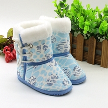 Now Hot Winter Fashion Baby Shoes Warm Soft Baby Ankle Snow Boots Infant Bandge Shoes Antiskid Keep Warm Baby Shoes 6M-12M