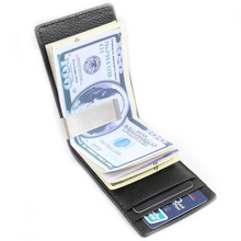 Men Money Clip Leather Slim Male Wallet With Card Hold Dollar Price Bag Luxury Clutch - BID018 PR49