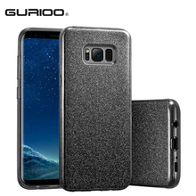 Phone cases For Samsung Galaxy S8 Plus Back Cover Shinning Protective Bumper Bling Glitter 3-Layer Case For Samsung Galaxy S8(China)