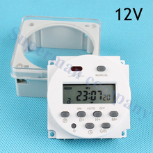 Stable CN101A 12V Digital LCD Power Timer weekly Programmable Time Switch Relay 8A TO 16A CN101 with protective cover weekly(China)