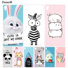 Desxz cute animal zebra rabbite Cover phone Case for sony xperia z2 z3 z4 z5 mini plus aqua M4 M5 E4 E5 C4 C5 XA(China)