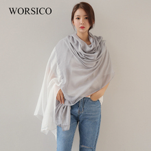WORSICO Size 240*120cm 2017 New Cotton Linen Scarves Beach Towel Scarf Female Four Seasons Shawls and Scarves Women Scarf