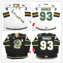 London Knights #93 Mitch Marner White Black Hockey Jersey Embroidery Stitched Customize any number and name Jerseys(China)