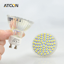 10Pcs/lots Full Watt 6W GU10 LED lamp AC 220V Heat-resistant Glass Body 3528 SMD 60LEDs 550-600LM LED Spotlight Bulbs light