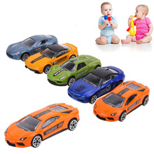 5pcs/lot 1:64 Scale Diecast Alloy Metal Racing Car Model For Collection Model Pull Back Toys Car Super Mini Model Car Toy Gifts(China)