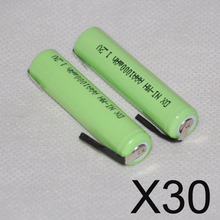 30pc 1.2V AAA rechargeable battery 1000mah 3A 10440 ni-mh nimh cell pins Philips Braun electric shaver razor toothbrush
