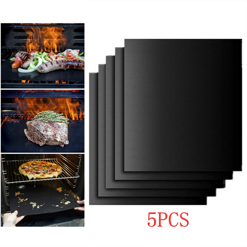 1//2pcs BBQ Grill Mat Reusable Non-stick Surface Easy Clean Baking Grilling HH