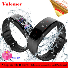 Volemer QS100 GPS Fitness Bracelet Color Screen IP67 Waterproof Fitness Tracker Blood Pressure Remote Control Smart Band PK QS80