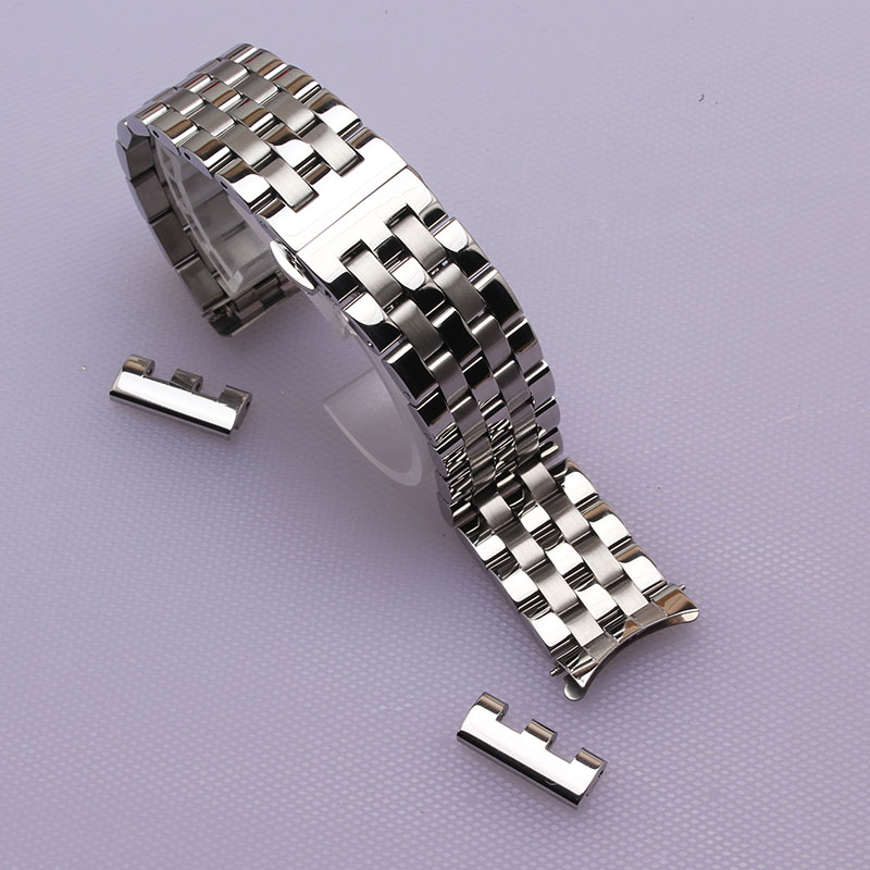 16mm 18mm 20mm 22mm New High Quality Watch Band Strap with free curved ends fashion watch accessories bracelet watchband men hot<br>