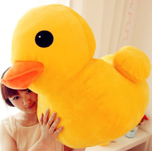 "28""/70cm Huge Stuffed Animal Rubber Duck  Plush Soft Toys Cute Pillow Cushion"