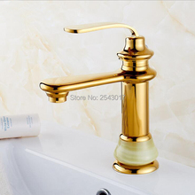 New Arrival Basin Gold Faucet Copper Brass Marble Stone Finish Deck Mounted Single Handle Torneira Banheiro ZR486