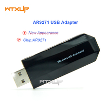 Atheros AR9271 150Mbps wifi MINI Wireless USB WLAN Adapter Dongle with 2DBi WiFi Antenna Network Card For ROS/Win 7/8/10 Linux(China)