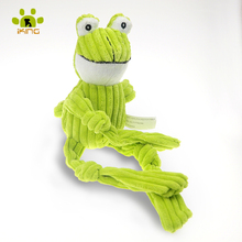 Short Plush Dog Toy Squeaker Pet Items Good Quality Stuffer Corduroy Frog Toy Puppy Production Big dog toys(China)