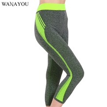 WANAYOU Super Elastic Women Sport Pants,High Waist Stretched Gym Fitness Running Tights,Breathable Quick Dry Yoga Leggings(China)
