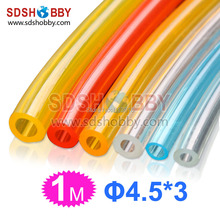 4.5*3mm 1 Meter Softer Fuel Line/ Fuel Pipe for Gasoline /Petrol Engine-Yellow/ Blue Color