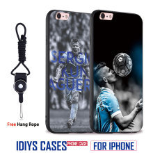 Sergio KUN Aguero Coque Tpu Soft Silicone Mobile Phone Case Cover For Apple iPhone X 8Plus 8 7Plus 7 6sPlus 6s 6Plus 6 5 5S SE(China)