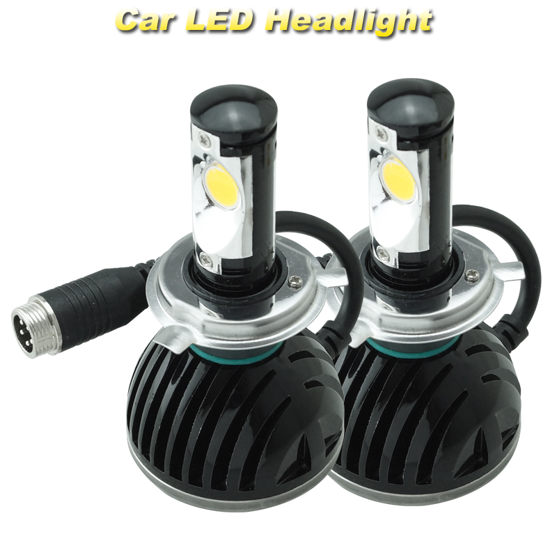 H4 Headlight Conversion Kit Car Fog Led Big Lamp CXA1512 Chips Super White High 2200lm<br>