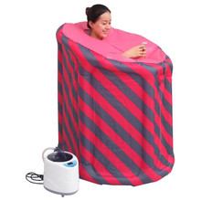 Inflatable portable steam sauna Weight loss improve sleep quality,Calories Burned Household sauna box steam fumigation machine(China)