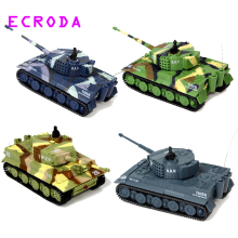 ECRODA Stock brand new TIGER RC Battle Tank 14CH 1:72 Scale Remote Control Simulated Panzer Mini Tank Children Toys Gift
