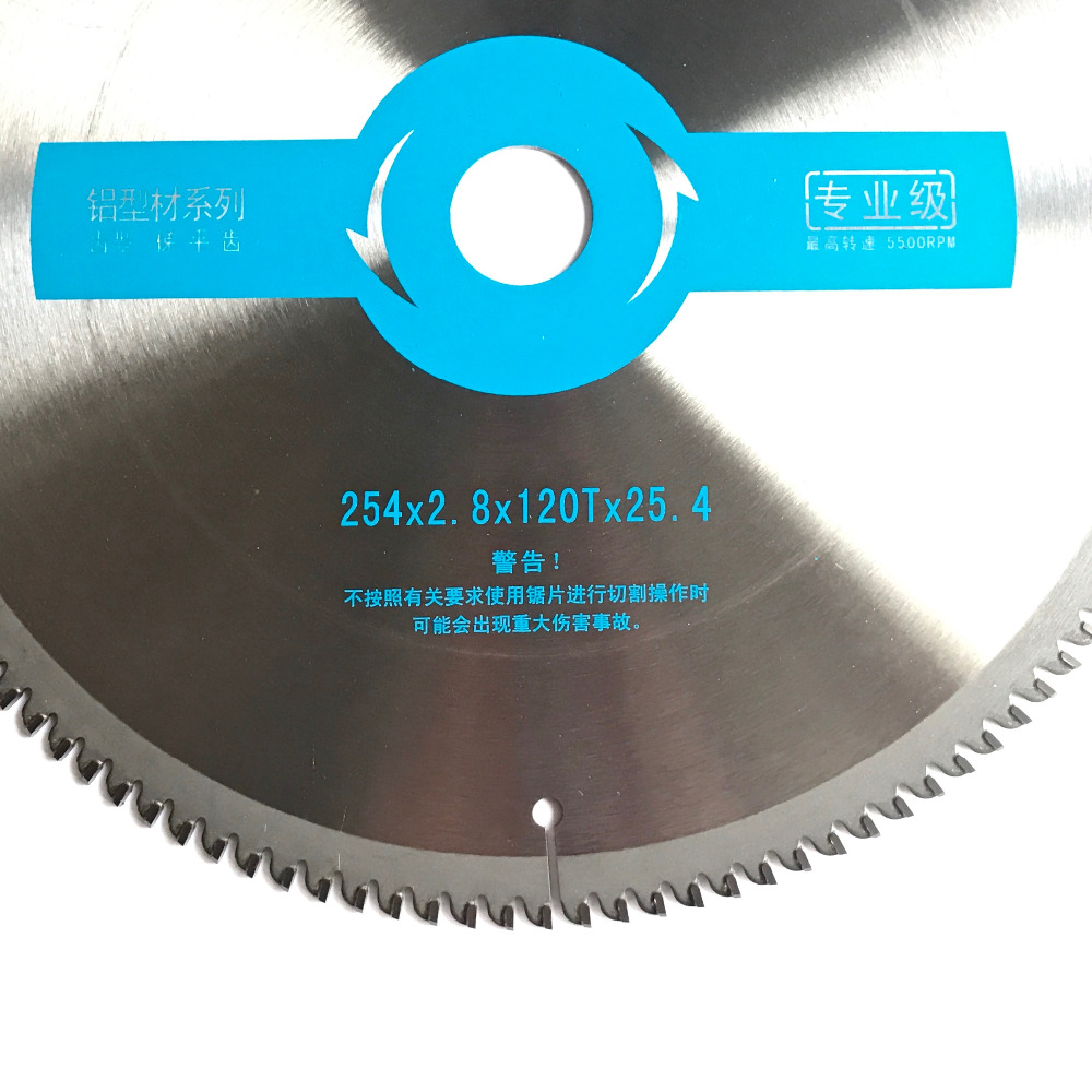 Free shipping professional quality 254*2.8*25.4*100/120T  TCG form TCT saw blade for aluminum/copper/brass/zinc/lead/acrylic cut<br>