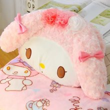 1pc 150cm funny flower My Melody soft plush coral fleece rest office cushion + blanket high quality stuffed toy romantic gift