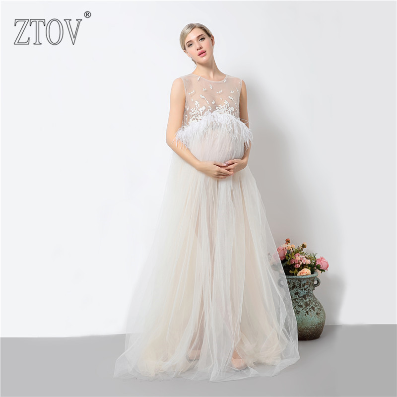ZTOV 2017 Pregnancy Photo Shoot Maternity Maxi dresses Maternity Photography Props Pregnant Dress Pregnancy Voile Clothes<br>