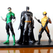 NEW hot 18cm Super hero Justice league wolverine Green lantern batman Action figure toys doll collection Christmas gift