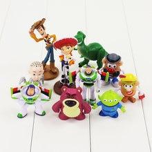 10 unids lote 4-9 cm juguete historia Woody Buzz Lightyear Jessie de  dibujos animados lindo muñecas PVC figura de acción modelo . ef266844884