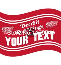 Detroit Red Wings Your Text Flag 3ft x 5ft Polyester NHL Banner Flying Size No.4 144* 96cm QingQing Flag