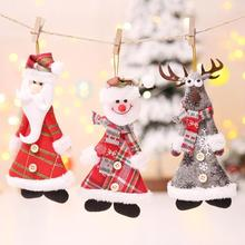 Christmas Decorations Home Santa Claus Snowman Elk Xmas Tree Ornaments Hanging Pendant Party Decoration Kids Gift