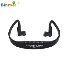 Binmer Wireless Portable mp3-player Card FM Stereo Radio USB MP3 Sports Headset Earphone 51111 Drop Shipping MotherLander
