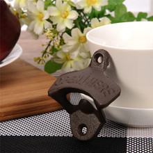 1 pc Vintage Rustic Iron Opener Beer Bottle Opener Wall Hanging Kitchen useful Tool For Bar/Home(China)