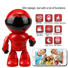 mini robot IP wifi camera 960P 1.3MP HD Wireless Wi-fi Night Vision Security Camera IP Network Camera CCTV support two-way audio(China)