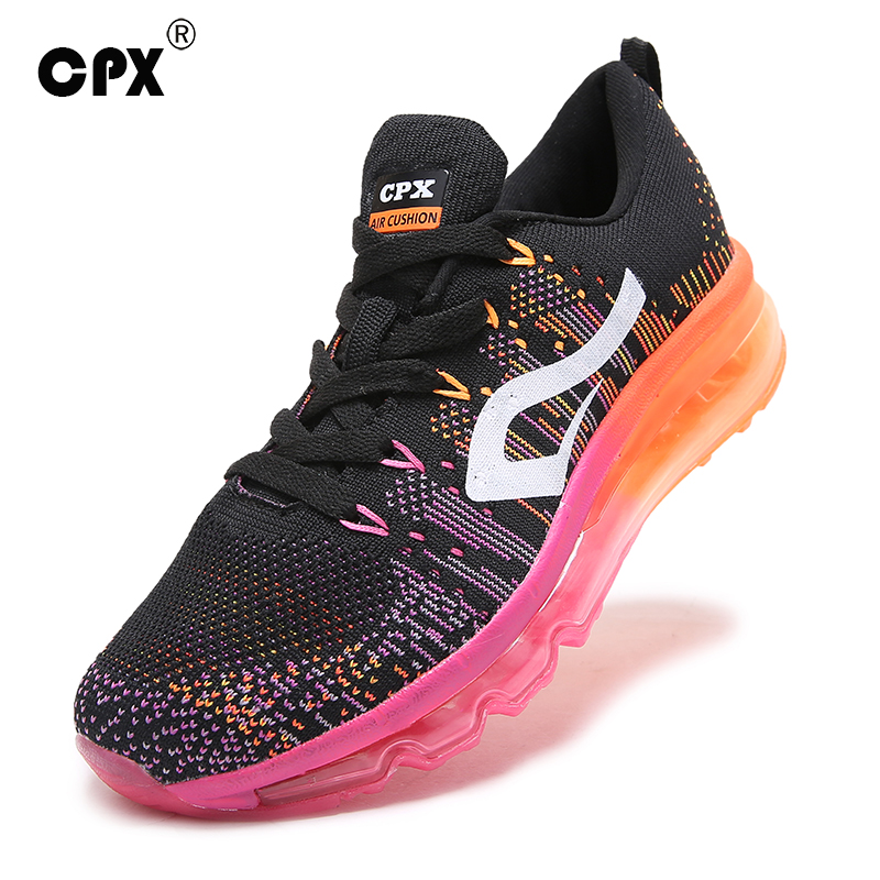 CPX Air Cushion Men Women Running Shoes outdoor breathable Knit Athletic Sneakers zapatillas Brand sports shoes for men women(China (Mainland))
