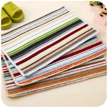 Color striped Anti-slip Doormat Lovely Bedroom Hall Kitchen Bathroom Door Mats Ottomans Carpet Mats Rugs And Carpets Floor Mats