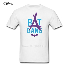 Bat Gang Logo Tshirt Men Leisure Summer Print Pure Cotton Short Sleeve Male Clothes O-neck Great Tee Shirt Fashion men's Tee(China)