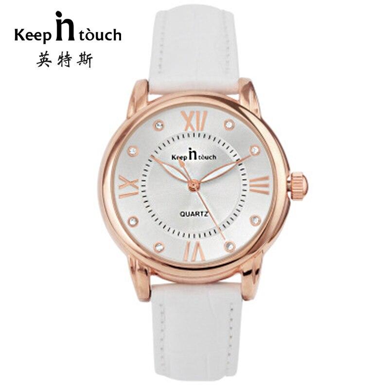 Luxury Ladies Watch waterproof Genuine Leather Strap Quartz Watch Gold Case 30M Water Resistant Diamonds Woman Watches<br><br>Aliexpress